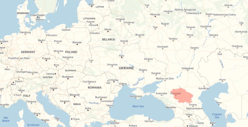 Stawropol Russland - Karte